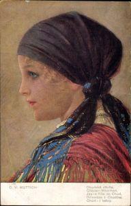 Künstler Ak Muttich, C. V., Jeune fille de Chod, Mädchen in tschechischer Tracht