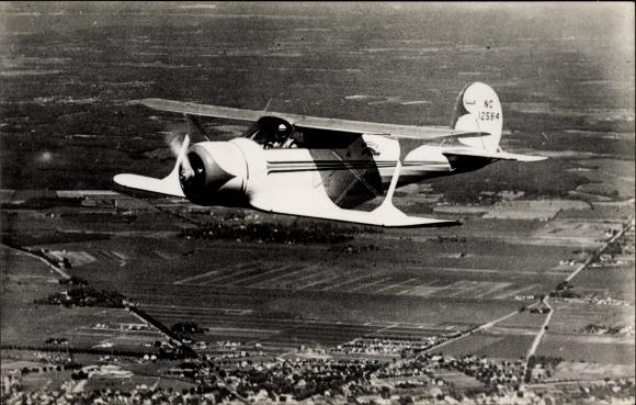 Ak Sportflugzeug Beechcraft C 17 in der Luft, NC 12584
