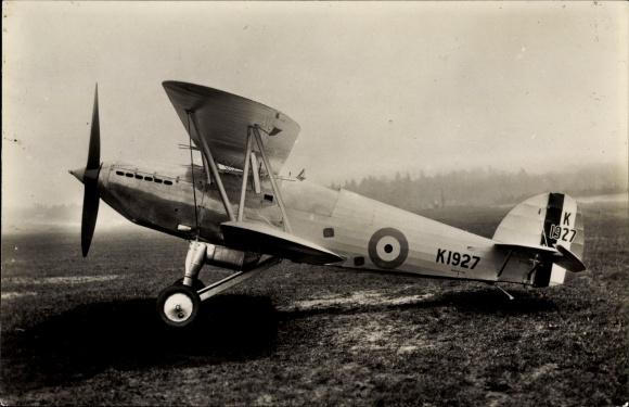Ak Britisches Militärflugzeug, Hawker Fury, K 1927, Royal Air Force