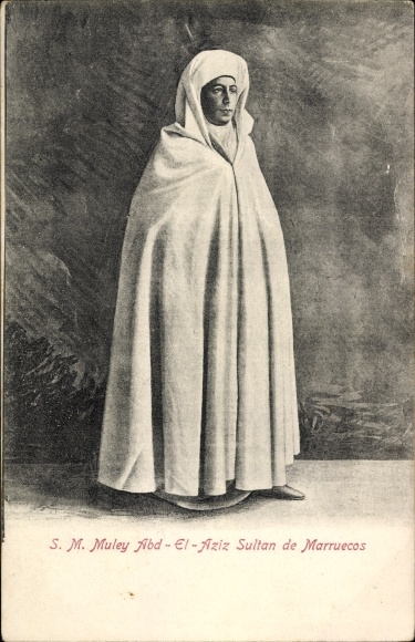 Ak Muley Abd El Aziz, Sultan de Marruecos, Marokkanischer Sultan, Portrait