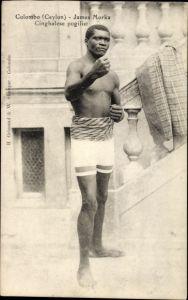 Ak Colombo Ceylon Sri Lanka, James Morka, Cinghalese pugilist, Boxer