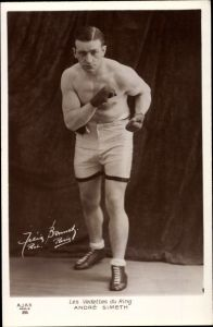 Ak Les Vedettes du Ring, Boxer Andre Simeth in Sportkleidung, Boxhandschuhe