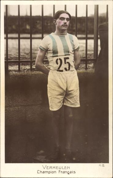 Ak Vermeulen, Champion Francais, Französischer Sportler mit der Startnummer 25
