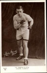 Ak André Simeth, Les Vedettes du Ring, Boxer, Standportrait