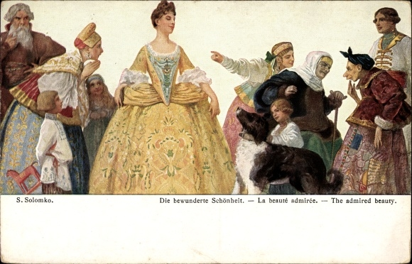 Künstler Ak Solomko, S., Die bewunderte Schönheit, La beauté admirée, Admired beauty