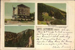 Ak Neubois Gereuth Elsass Bas Rhin, Hotel, Bärenbach, Schlucht