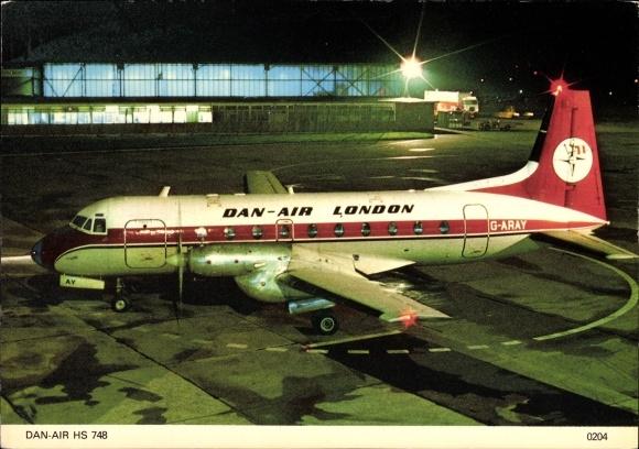 Ak Britisches Passagierflugzeug, Dan Air, Hawker Siddeley HS 748, G-ARAY