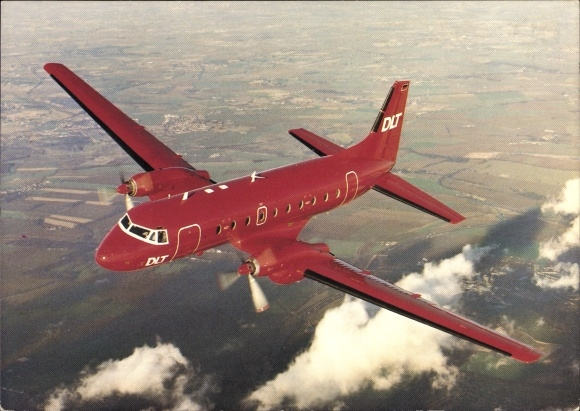 Ak Deutsches Passagierflugzeug, DLT Deutsche Luftverkehrsgesellschaft, Hawker Siddeley HS 748