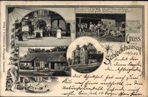 Ak Schledehausen Bissendorf Niedersachsen, Sanatorium, Luftbad, Schweizerhaus, Abschiedsszene