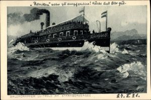 Künstler Ak Bernhard, F., Salondampfer Luitpold auf dem Starnberger See