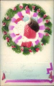 Präge Ak Frohe Weihnachten, Weihnachtsmann