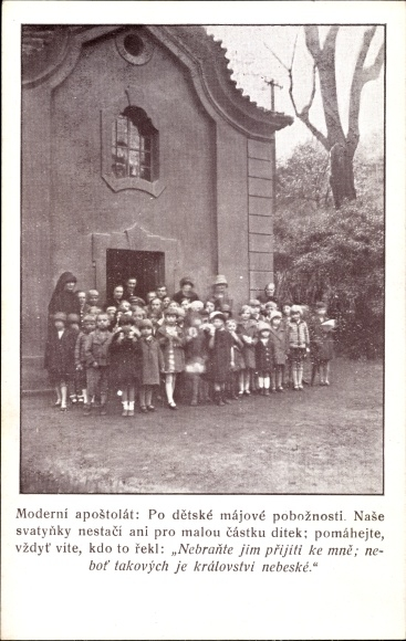 Ak Tschechoslowakei, Moderni apostolat, Gruppenbild, Kinder
