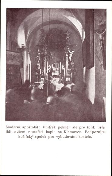 Ak Tschechoslowakei, Moderni apostolat, Inneres der Kirche