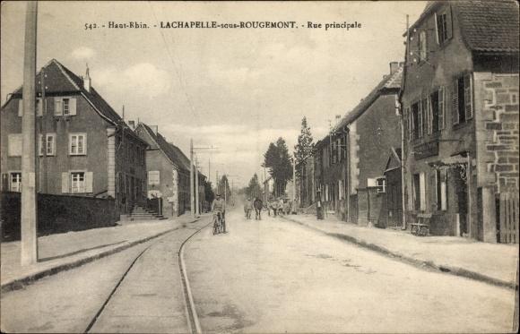 Ak Lachapelle sous Rougemont Welschenkappel Territoire de Belfort, Rue principale, Straßenpartie