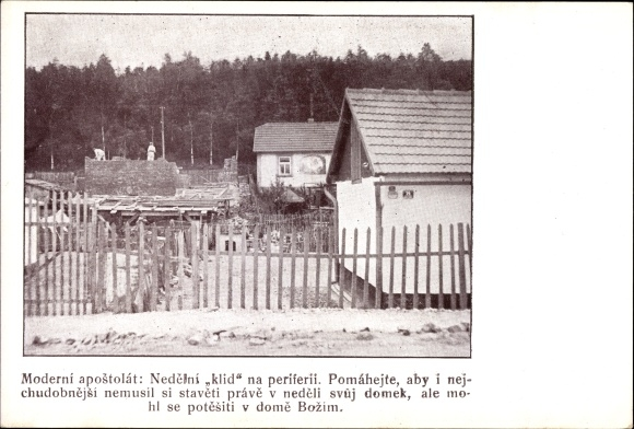 Ak Tschechoslowakei, Moderni apostolat, Nedelni klid na periferii
