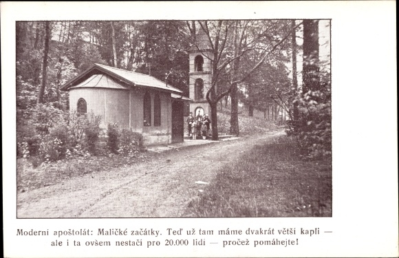 Ak Tschechoslowakei, Moderni apostolat, Malicke zacatky
