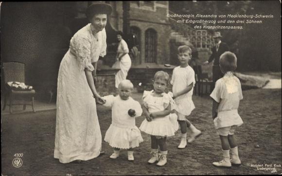 Ak Großherzogin Alexandra von Mecklenburg Schwerin, NPG 4300