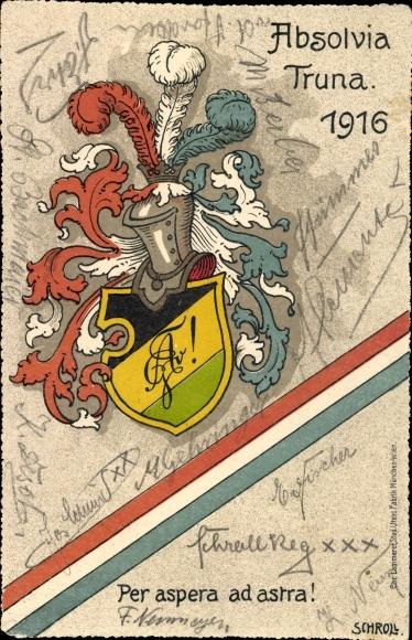 Studentika Ak Absolvia Truna 1916, Per aspera ad astra