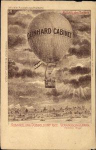 Künstler Ak Düsseldorf, Ausstellung 1902, Vergnügungspark, Aufstieg des Ballons
