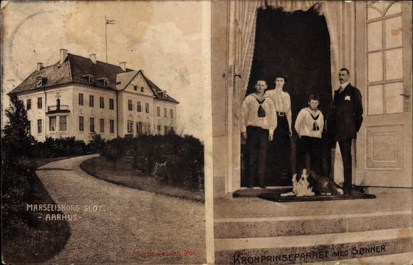 Ak Århus Aarhus Dänemark, Kronprinz Christian X. von Dänemark, Marselisborg Slot
