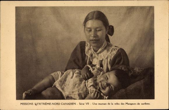 Ak Missions d'Extrème Nord Canadien, Série VII, Une maman de la tribu des Mangeurs de caribou