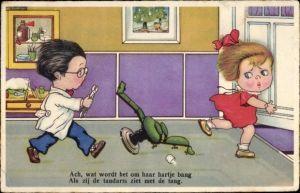 Ak Ach wat wordt het om haar hartje bang, Kinder spielen Zahnarzt, Amag 0423
