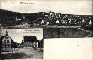 Ak Mühlhausen Stuttgart in Baden Württemberg, Gasthaus zum Löwen v. Gotthilf Häussermann, Totale