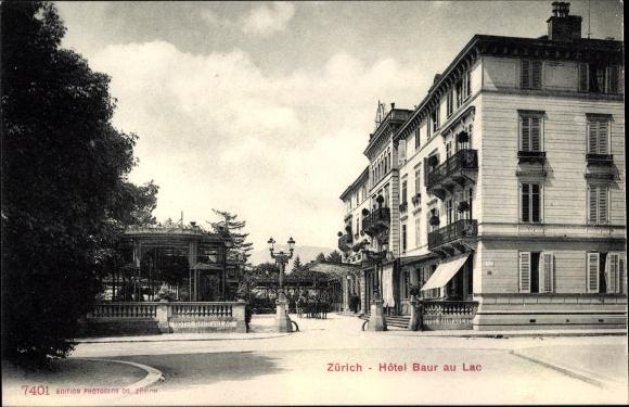 Ak Zürich Stadt Schweiz, Hôtel Baur au Lac