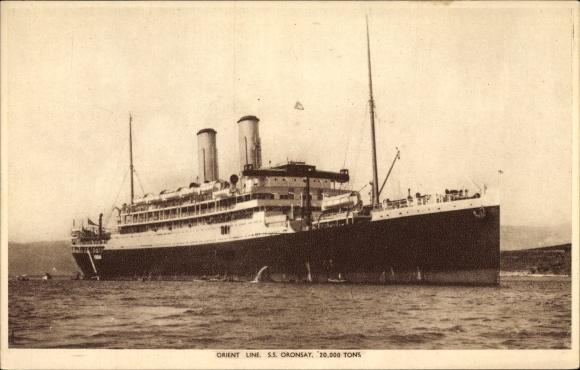 Ak Dampfer S.S. Oronsay der Orient Line, Steam Ship