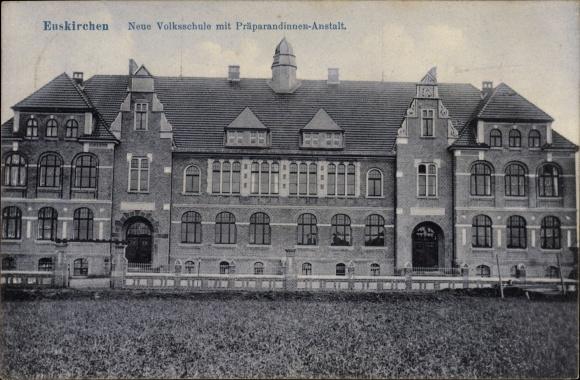 Ak Euskirchen in Nordrhein Westfalen, Neue Volksschule, Präparandinnenanstalt