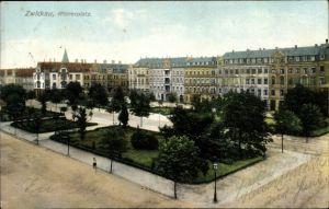 Ak Zwickau in Sachsen, Partie am Römerplatz, Gartenanlage