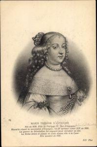 Künstler Ak Maria Theresia von Österreich, Königin von Frankreich, Portrait