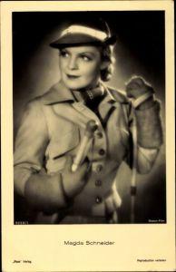 Ak Schauspielerin Magda Schneider, Portrait, Boston Film, Ross Verlag 9059/1
