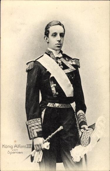 Ak König Alfons XIII. von Spanien, El Rey Alfonso XIII., Uniform