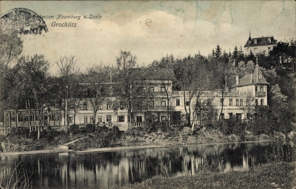 Ak Grochlitz Naumburg an der Saale, Blick auf das Sanatorium, Ansicht