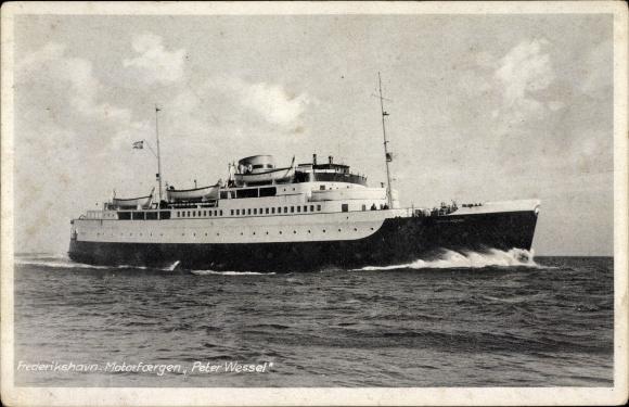 Ak Frederikshavn Frederikshavn Dänemark, Motorfoergen Peter Wessel, Fährschiff