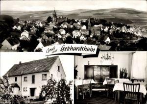Ak Gebhardshain Rheinland Pfalz, Totalansicht vom Ort, Privatpension Luise Pinhammer, Buchenweg 7