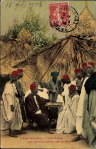 Ak Porte Maillot Senegal, Village Senegalais, Une Partie de Dames interessante