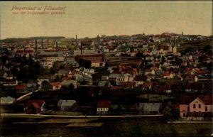 Ak Ebersbach Neugersdorf, Stadt von der Felsenmühle gesehen