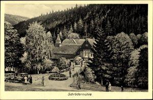 Künstler Ak Brand Erbisdorf im Kreis Mittelsachsen, Partie an der Schrödermühle