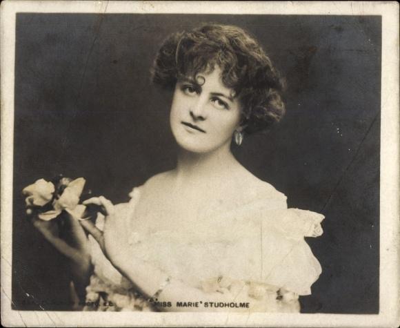 Mini Ak Schauspielerin Marie Studholme, Portrait, Rotary Photo