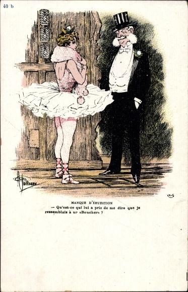 Künstler Ak Guillaume, Albert, Manque d'érudition, Ballerina