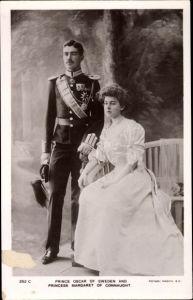 Ak Kronprinzenpaar von Schweden, Gustav Adolf, Margaret of Connaught