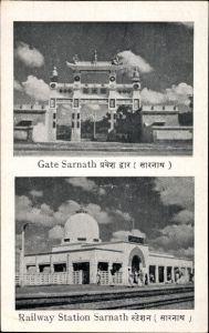 Ak Sarnath Uttar Pradesh Indien, Gate, Railway Station, Bahnhof