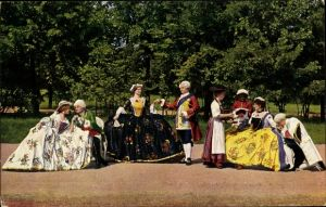 Ak Meißen in Sachsen, Gruppen aus dem Festspiel zur 200 jährigen Jubelfeier Porzellan