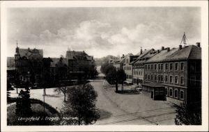 Ak Pockau Lengefeld im Erzgebirge Sachsen, Partie am Markt, Hotel zur Post, Konditorei