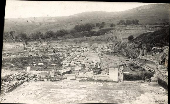 Foto Ak Smyrna Izmir Türkei, Ruinen der antiken Stadt Pergamon