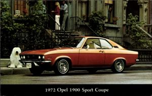 Ak 1972 Opel 1900 Sport Coupe, Thumma Motor Co., Hagerstown Maryland