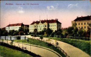 Ak Zwickau in Sachsen, Kaserne des 133. Regiments, Ottmar Zieher