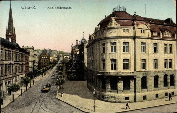 Ak Gera in Thüringen, Partie an der Adelheidstraße